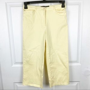 Tribal Stretch Spandex Yellow Capri Pants